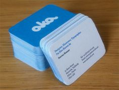 40 Cool Blue Business Card Designs #card #business