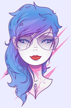 Pretty Face by Victor Vergara #portrait #illustration