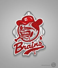 Zom Baseball on Behance #apparel #design #tshrit #illustration #character
