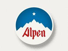 Dribbble - Alps by HRMN #vintage #swiss #retro #alps #texture #mountains #ski #alpine