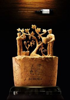 Aurora Wines: Taste the story #digital #sculpture #art #advertising