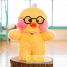 Lalafanfan #Cafe #Mimi #Hyaluronic #Acid #Small #Yellow #Duck #Ins #Duck #Plush #Toy #Doll #- #GLASSES