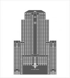 Building Architectural Illustration (mkn design - Michael Nÿkamp) #civic #chicago #opera #buliding