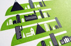 Jez Burrows / Projects / Pocket Town #jez #burrows #print #silkscreen