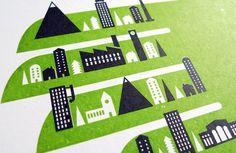 Jez Burrows / Projects / Pocket Town #jez #burrows #print #silkscreen