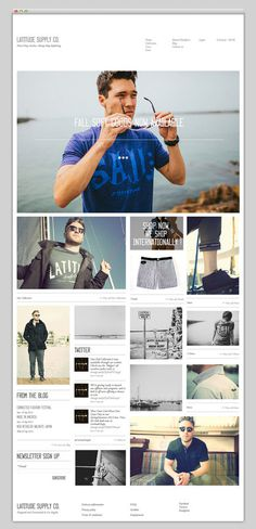 Latitude Supply Co. #design #website #fashion #layout #web