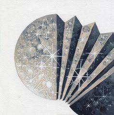radhinal, just now #lunar #pattern #experimental #illustration #triangle #art #painting #moon