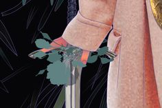 Roses. Detail by Maria Umiewska