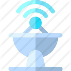 See more icon inspiration related to satellite dish, antenna, communications, radar, wireless and technology on Flaticon.
