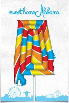 Sweet Home Alabama #design #alabama #poster