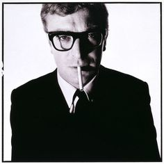 baileycaine.jpg 498×500 pixels #caine #glasses #60s #rimmed #photography #michael