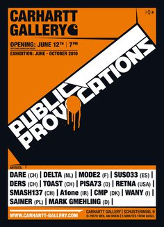 CARHARTT GALLERY EXHIBITION #print #poster