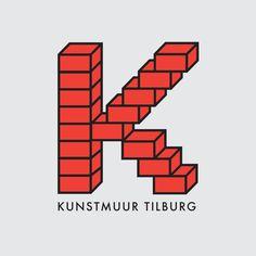 Logo Kunstmuur #logo #logodesign #minimal #illustration #typography