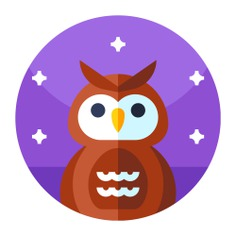 See more icon inspiration related to owl, bird, hunter and animals on Flaticon.