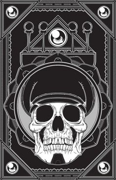 Vector Illustration Collection 01 on the Behance Network #vector #black #derek #gangi #illustration #skull #officer