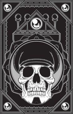 Vector Illustration Collection 01 on the Behance Network #vector #black #derek #gangi #illustration #skull #officer