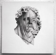 Caleb Hahne - work #head #illustration #portrait #painting #surreal #drawing