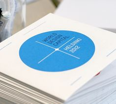 Kokoro & Moi | World Design Capital Helsinki 2012 #blue #print #design #graphic