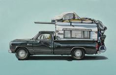 Unusual Vehicles Oil Paintings by Kevin Cyr | Abduzeedo | Graphic Design Inspiration and Photoshop Tutorials #camper