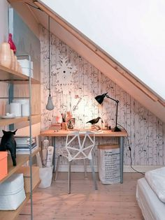 Norwegian Ceramicist's Home « SoFiliumm #interior #sloping #design #wood #furniture #roof