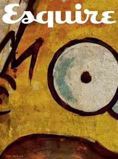 Esquire Take Cover project at iainclaridge.net #simpsons #print #homer #esquire
