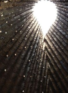 Bruder Klaus Chapel, Mechernich #zumthor #concrete #swiss #sky #chapel #light