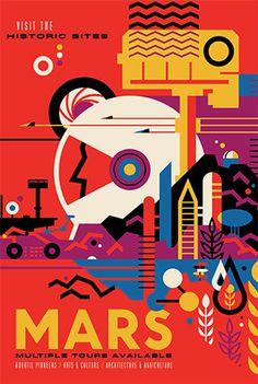 Mars NASA Poster