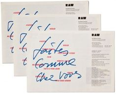 Rasmus Koch Studio : Faites comme chez vous #cover #handwriting #newspaper