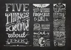 003_Ink_type #lettering #infographic #chalk #hand #typography