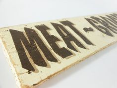 Old sign - handpainted type #sign #type #painted