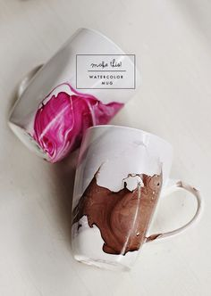 Poppytalk: DIY | Watercolor Mug #mug