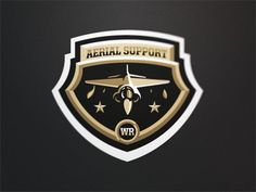 Aerial_support #badge #vector #aerial #jet #support