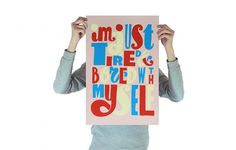 Tired and Bored/Parra | Productions | Toykyo #type #handdrawn #poster