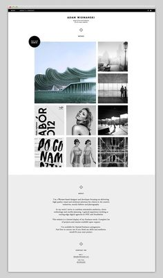 Adam Widmanski (amazing design) #portfolio #design #website #layout #web