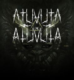 Atuvuta - Fonts of Chaos. #fonts #font #blackmetal #typo #typography