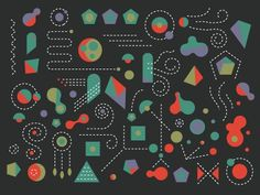 Dribbble - COOL SHAPES BRO by Dan Cassaro #illustration #design