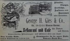 Discuss Detroit: Before greektown there was germantown. #vintage #advertising
