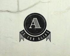 A IS FOR ALIAS   WTWTW #banner #branding #letter #logo #alias