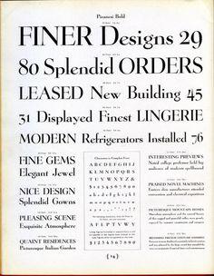 Daily Type Specimen | Piranesi was designed by Willard T. Sniffin for... #typography