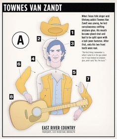 East River Country: Townes Van Zandt #v #design #swallow #illustration #music #sparrow