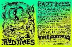 RAD TIMES FLYER!! - wackytupaky #illustration #poster #typography