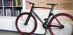 """The first """"connected"""" smart bike, the Vanhawks Valour, is a commuter with a lightweight yet strong carbon fiber frame. The bike works wi"""