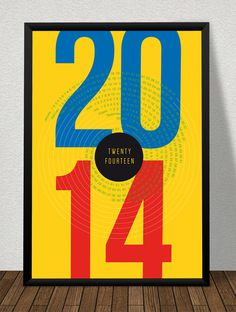 FOR FREE DOWNLOAD!  Typo Poster, Calender 2014, Format DIN A2.