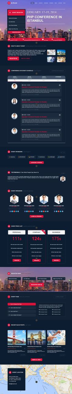 red, blue, layout, concept, web design, event, conference
