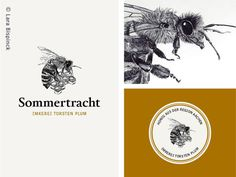 I've drawn a honey logo for a German beekeeper. #logodesign #honeycomb #bee #handdrawn #corporate design #label #graphic design #honeybee
