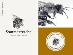 I've drawn a honey logo for a German beekeeper. #logodesign #honeycomb #bee #handdrawn #corporate design #label #graphic design #honeybee
