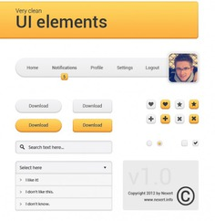 Orange navigation menu with avatar Free Psd. See more inspiration related to Menu, Box, Orange, Avatar, Radio, Search, Drop, Buttons, Psd, Navigation, Notification, Checkbox, Down, Search box, Vertical, Radio buttons and Drop down on Freepik.