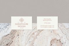 Shropshire Design by Alan Cheetham #graphic design #print #business card