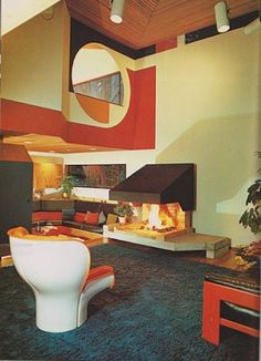 1970s Interior Design #interior #design #vintage #joe #1970s #colombo