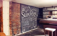 SB Life « Superbig Creative #brick #beer #script #chalk #illustration #architecture #vintage #art #studio #bar #typography